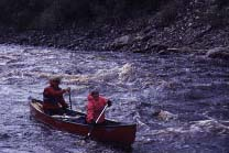 My mother and me on a Fortymile rapid